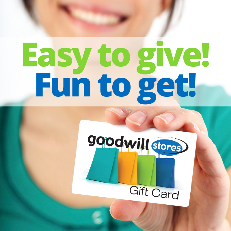 Goodwill gift cards available